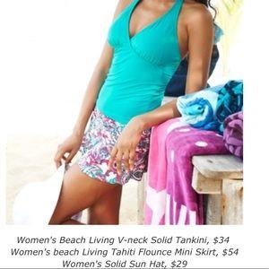 Lands' End Swim - Lands' End Flounce Tahiti Paisley Swim Skirt 10